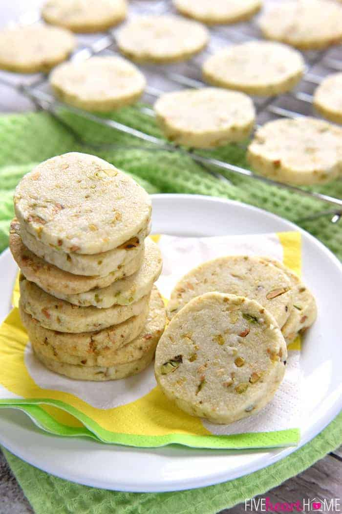 Pistachio Shortbread Cookies ~ delicately sweet and studded with salty ...
