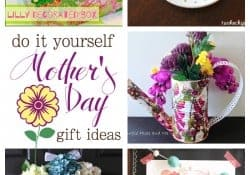 Do-It-Yourself Mother's Day Gift Ideas ~ Moonlight & Mason Jars Link Party | FiveHeartHome.com