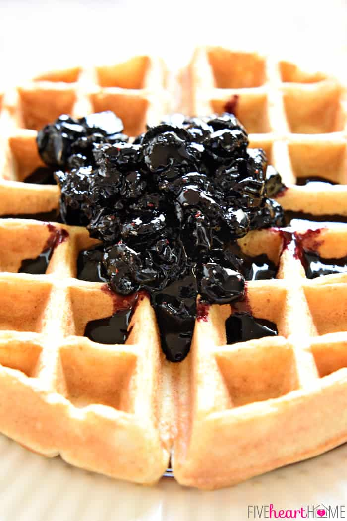 ... maple syrup and delicious over waffles, pancakes, pound cake, yogurt