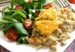 Cheesy Beef & Quinoa Bake