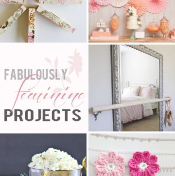 Fabulously Feminine Projects ~ Moonlight & Mason Jars Link Party | FiveHeartHome.com