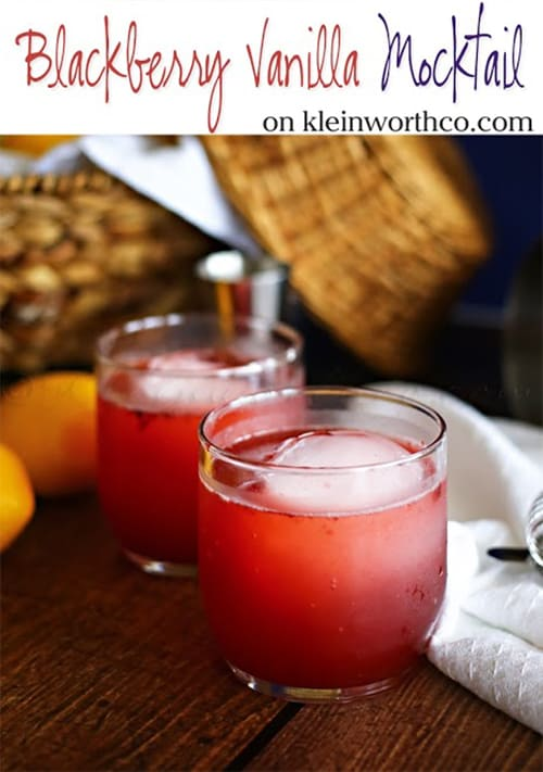 Moonlight & Mason Jars Link Party Features ~ Cocktails & Mocktails: Blackberry Vanilla Mocktail