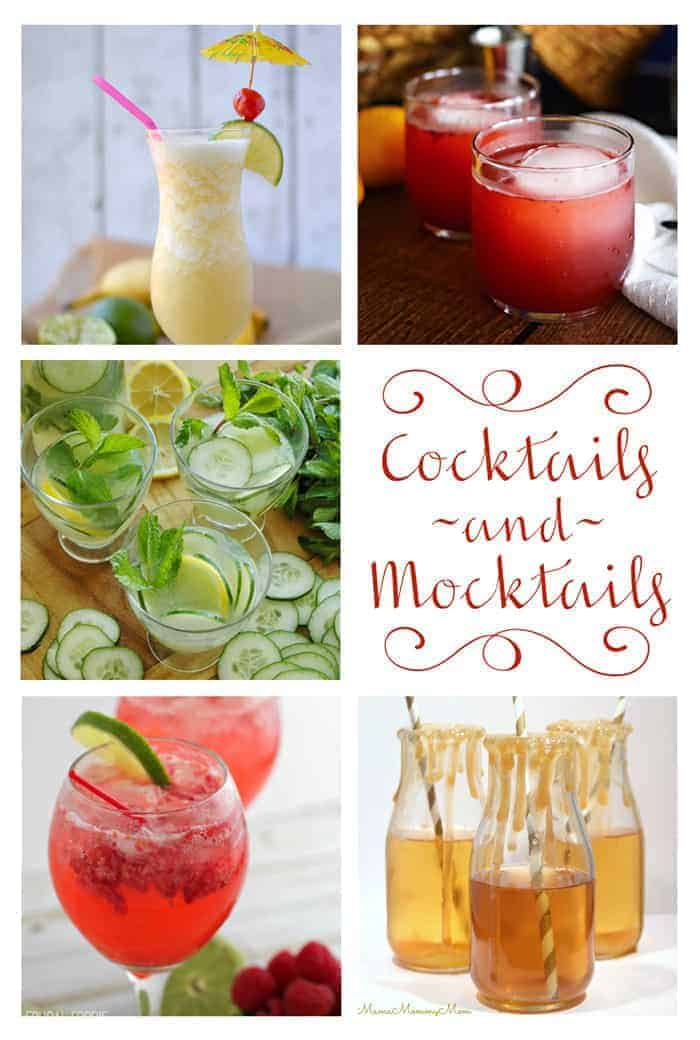 Moonlight & Mason Jars Link Party Features ~ Cocktails & Mocktails
