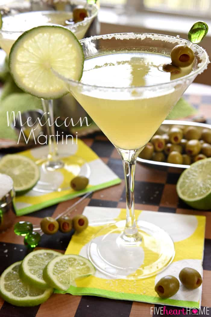 Mexican Martini with text overlay.