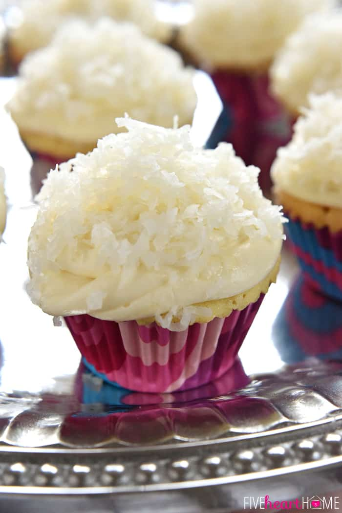 One-Bowl Coconut Cupcakes