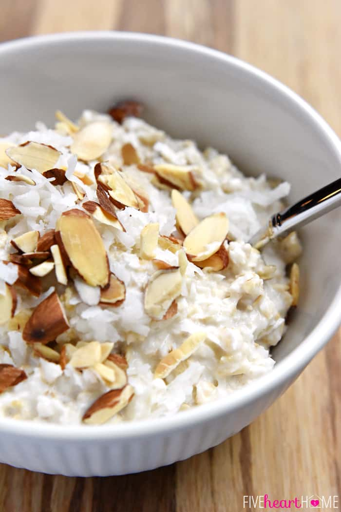 Coconut Almond Cold Oatmeal