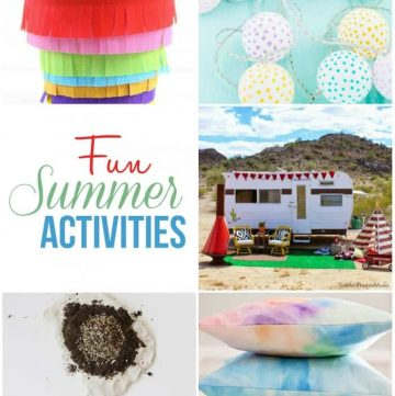 Fun Summer Activities ~ Moonlight & Mason Jars Link Party | FiveHeartHome.com