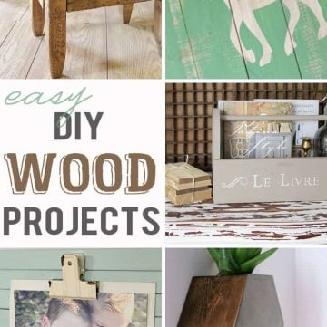 Easy Wood DIY Projects | Moonlight & Mason Jars Link Party