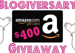 Five Heart Home's 2nd Blogiversary Giveaway ~ $400 Amazon eGift Card | FiveHeartHome.com