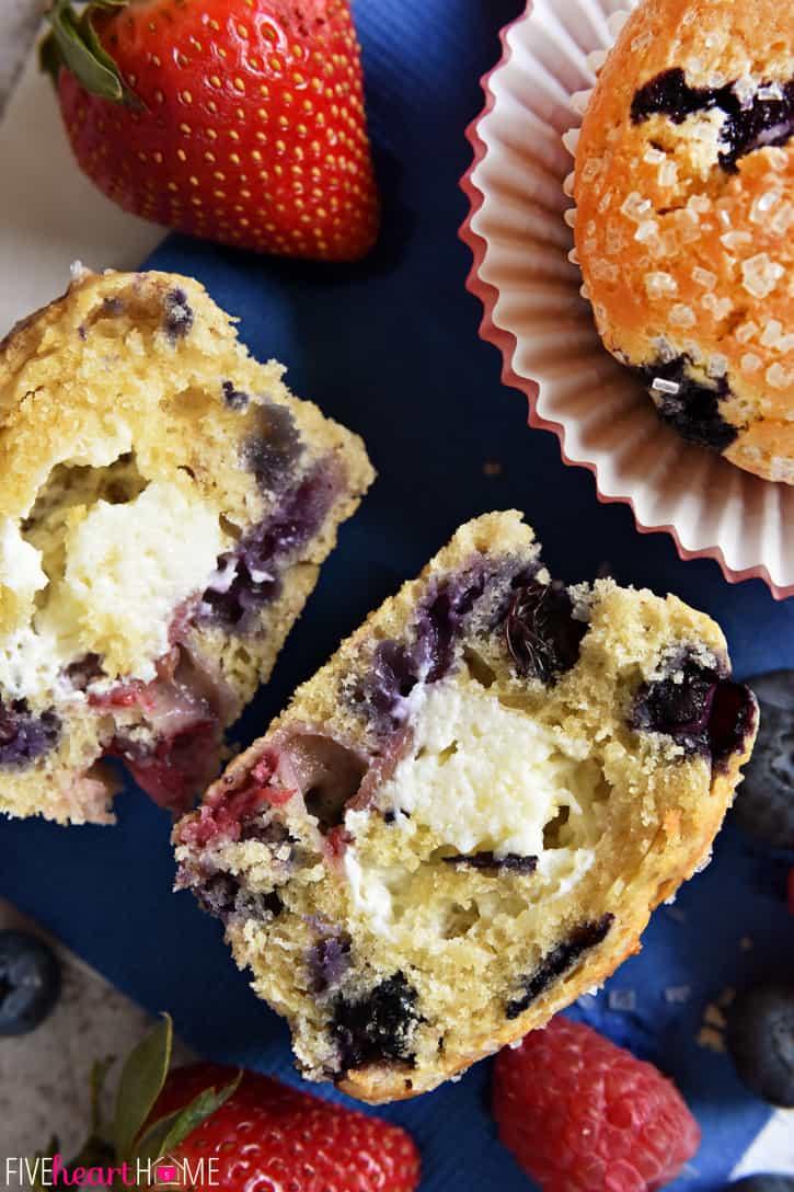 Mixed Berry Cream Cheese Muffins