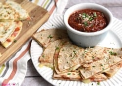 Pizza Quesadillas with Dipping Sauce