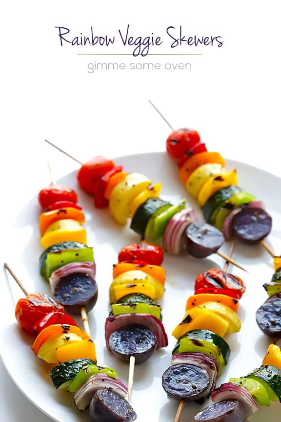 Rainbow Veggie Skewers