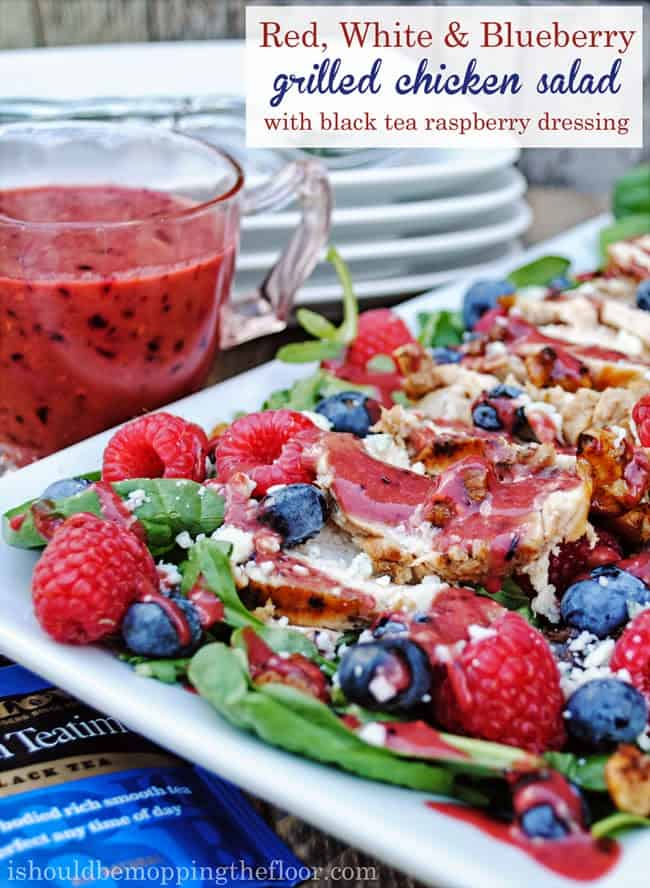 Red, White, & Blueberry Grilled Chicken Salad