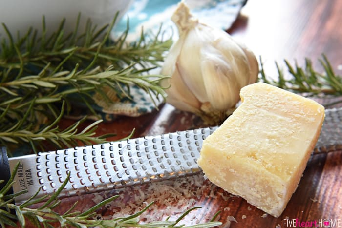 Close-Up of Rosemary, Garlic and Parmesan