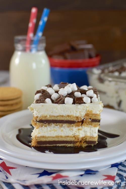 S'mores Oreo Icebox Cake