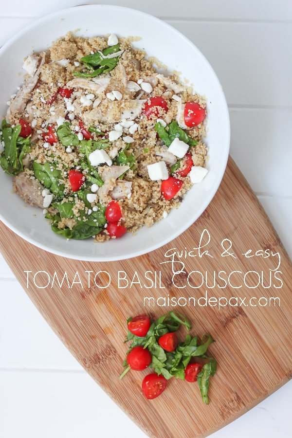 Quick & Easy Tomato Basil Couscous