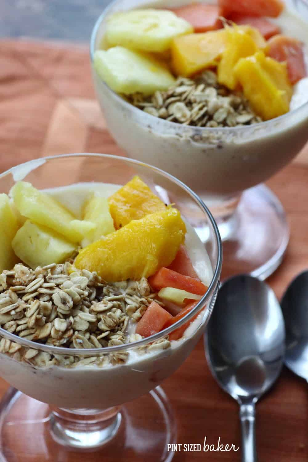 Tropical Fruit Smoothie Bowls