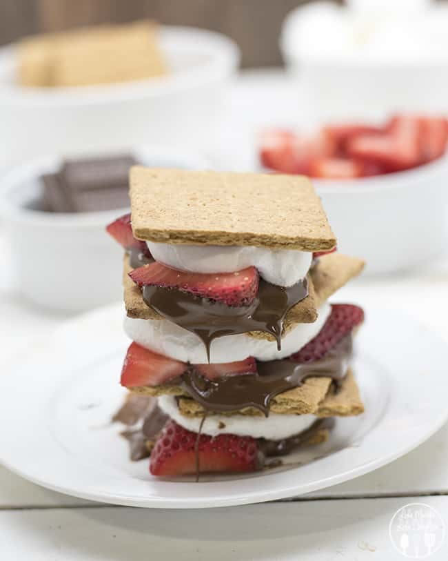 Chocolate-Covered Strawberry S'mores | Like Mother Like Daughter