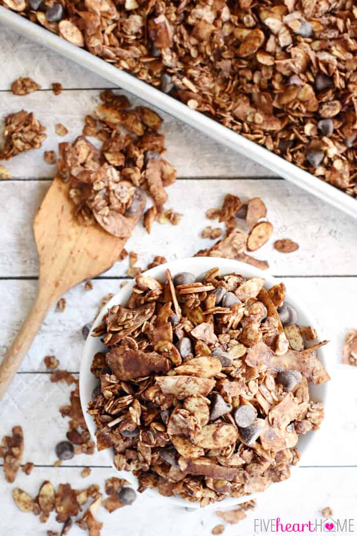 Almond Joy Granola Aerial View