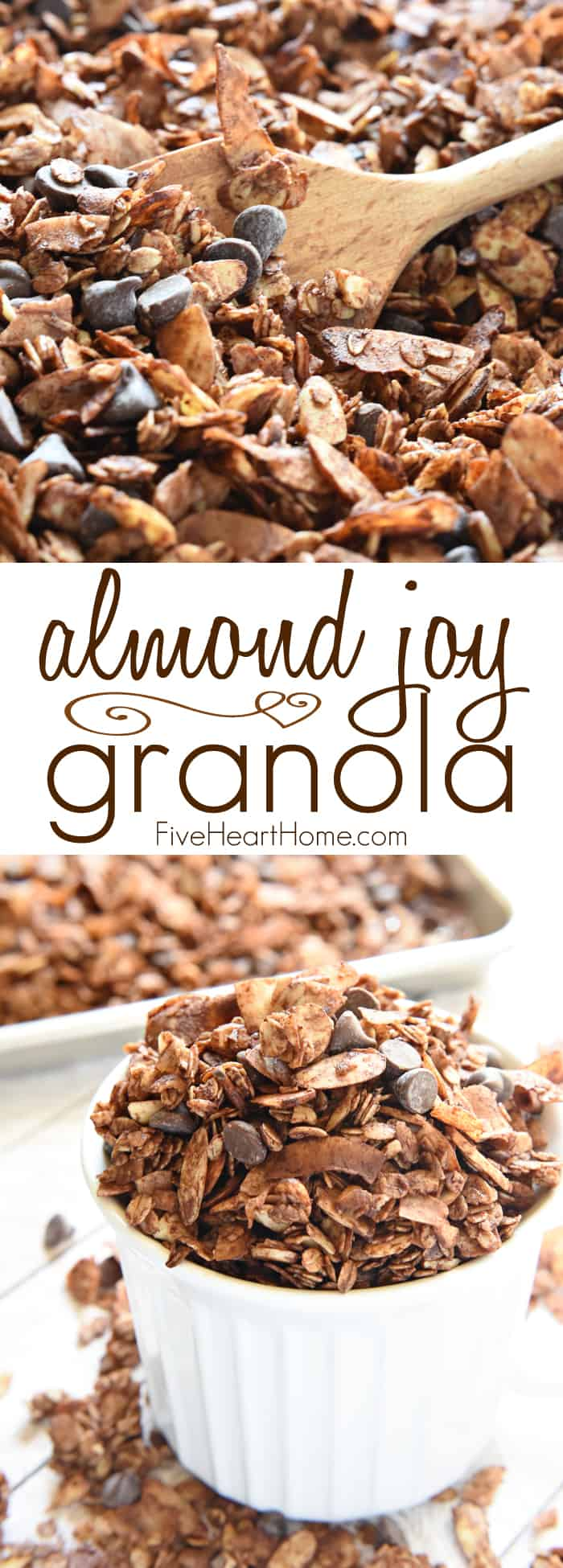 Almond Joy Granola Collage with Text Overlay