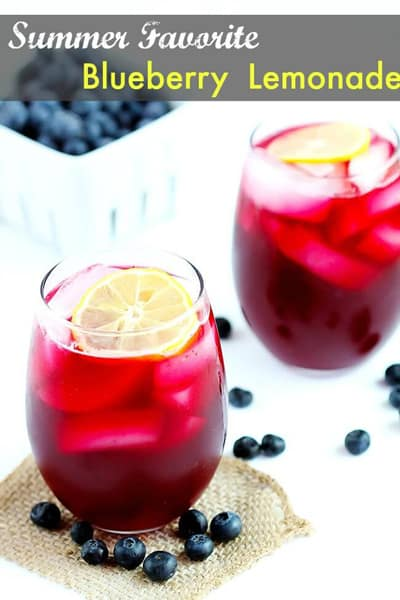 Blueberry Lemonade | CarmelMoments.com