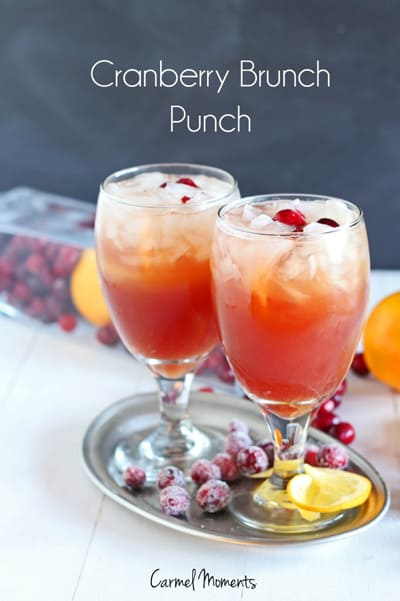 Cranberry Brunch Punch | CarmelMoments.com