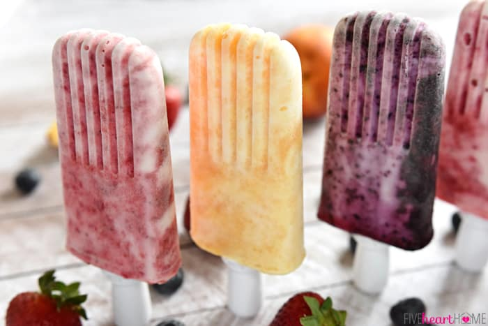 Fruity Yogurt Popsicles
