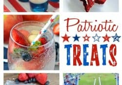Patriotic Treats ~ festive red, white, and blue recipes to celebrate the 4th of July! | Moonlight & Mason Jars Link Party