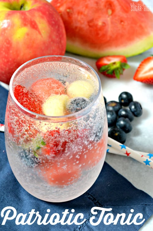 Patriotic Tonic {Fruit-Infused Sparkling Water}