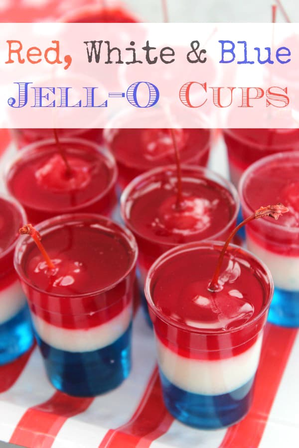 Red, White, & Blue Jello Cups
