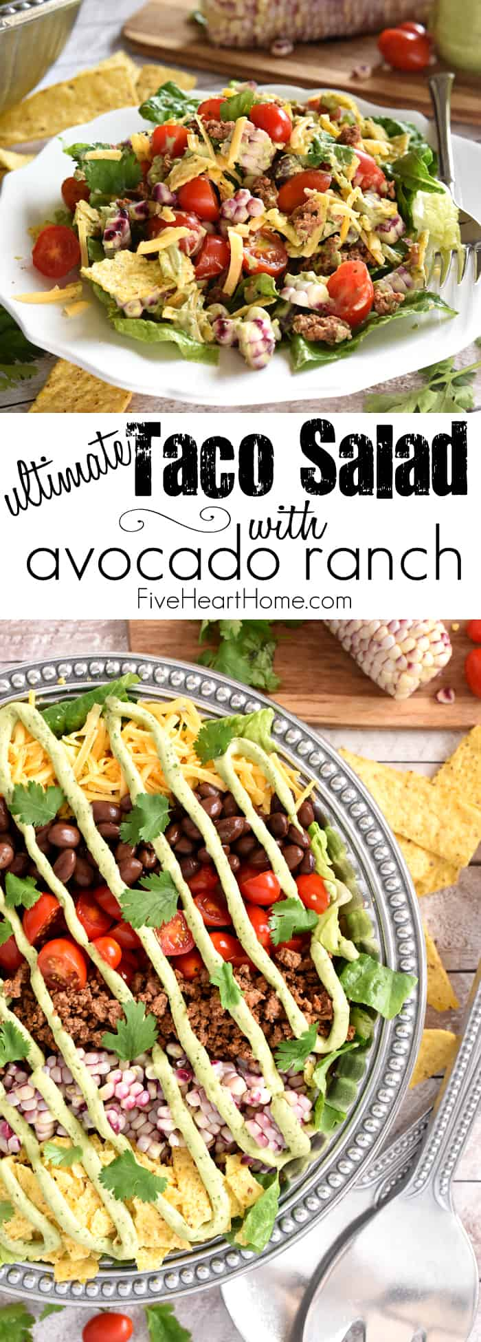 Ultimate Taco Salad Collage with Text Overlay