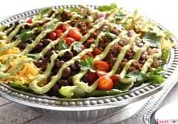 Ultimate Taco Salad with Avocado Ranch Dressing