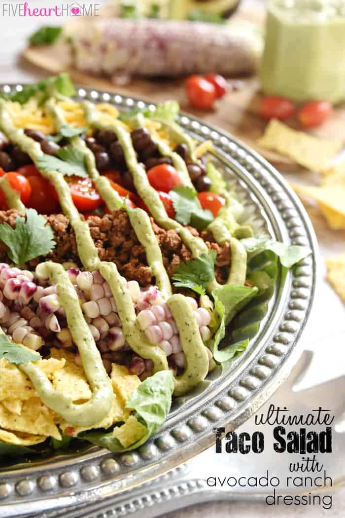 Ultimate Taco Salad with Text Overlay