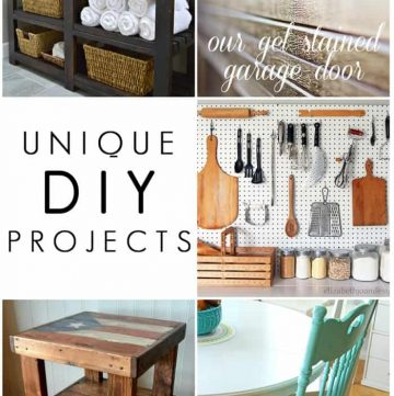 Unique DIY Projects {M&MJ Link Party #110}