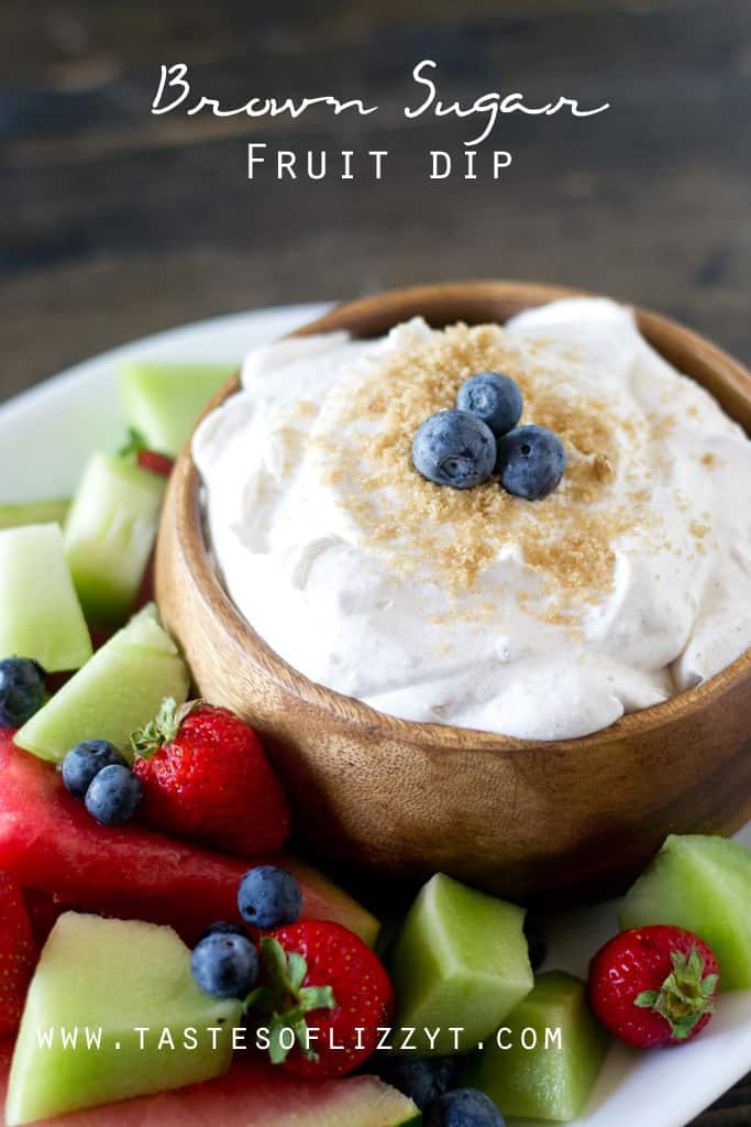 Brown Sugar Fruit Dip With Text Overlay