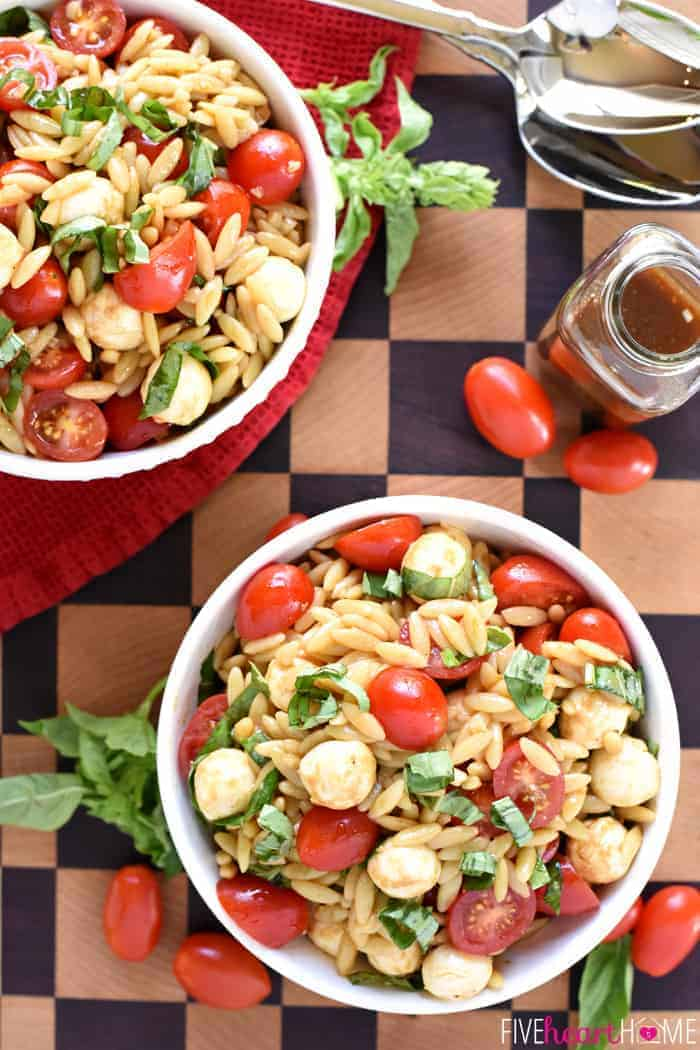 Orzo Salad ~ a vibrant summer pasta salad featuring juicy tomatoes ...