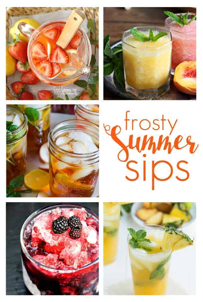 Frosty Summer Sips ~ refreshing drink recipes to keep you cool, all summer long! | Moonlight & Mason Jars Link Party
