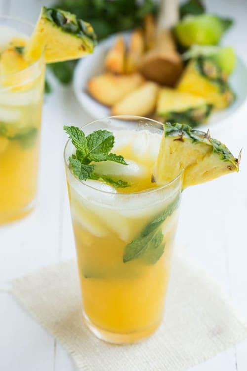 Pineapple Peach Mojito