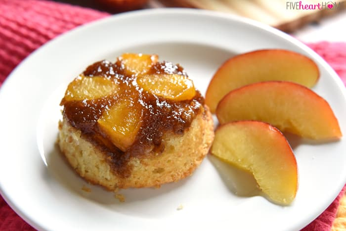 Peach Upside-Down Cupcakes