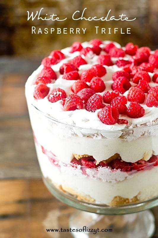 White Chocolate Raspberry Trifle