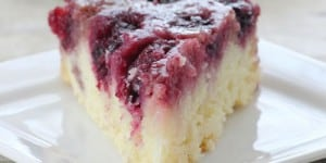 Blackberry Upside-Down Almond Skillet Cake