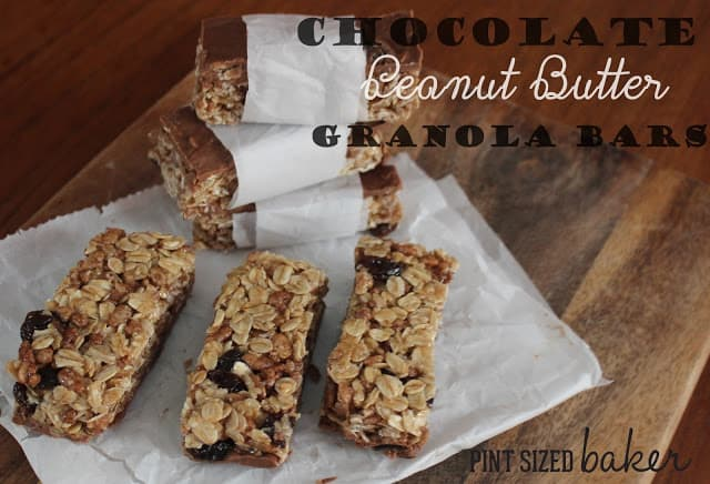 Chocolate Peanut Butter Raisin Granola Bars