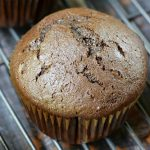 Double Chocolate Muffins ~ with a moist texture and deep chocolate flavor, these muffins make a special breakfast treat or after-school snack! | CookingWithCurls.com for FiveHeartHome.com