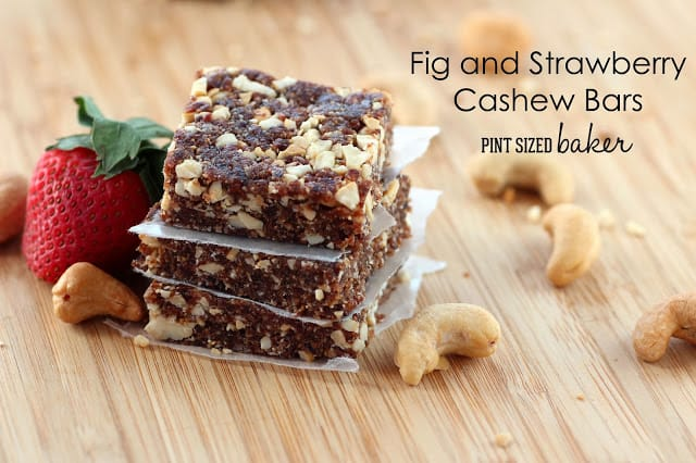 Fig and Strawberry Cashew Bars
