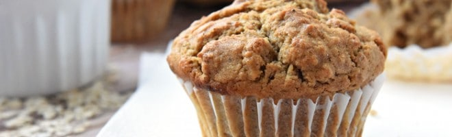 Oatmeal Spice Muffins ~ perfectly spiced with crunchy tops and pillowy centers, making them a wholesome, delicious breakfast on-the-go or anytime snack! | FiveHeartHome.com