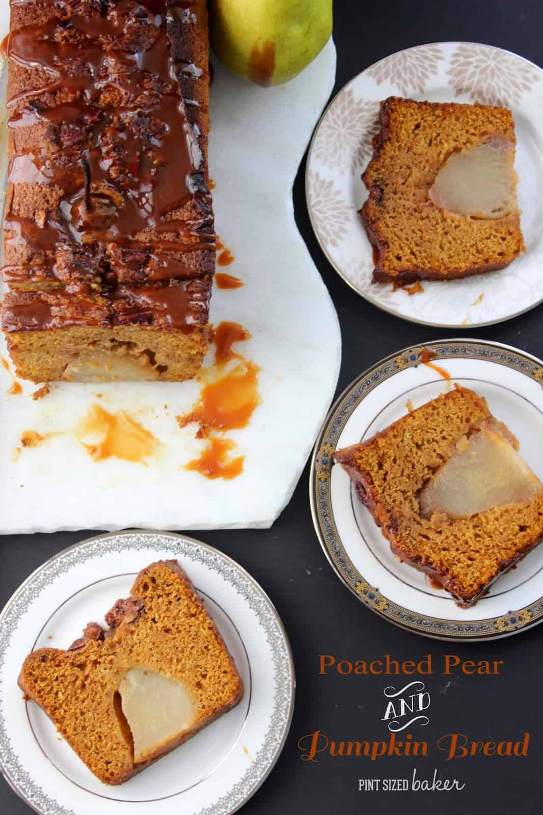 Poached Pear and Pumpkin Bread