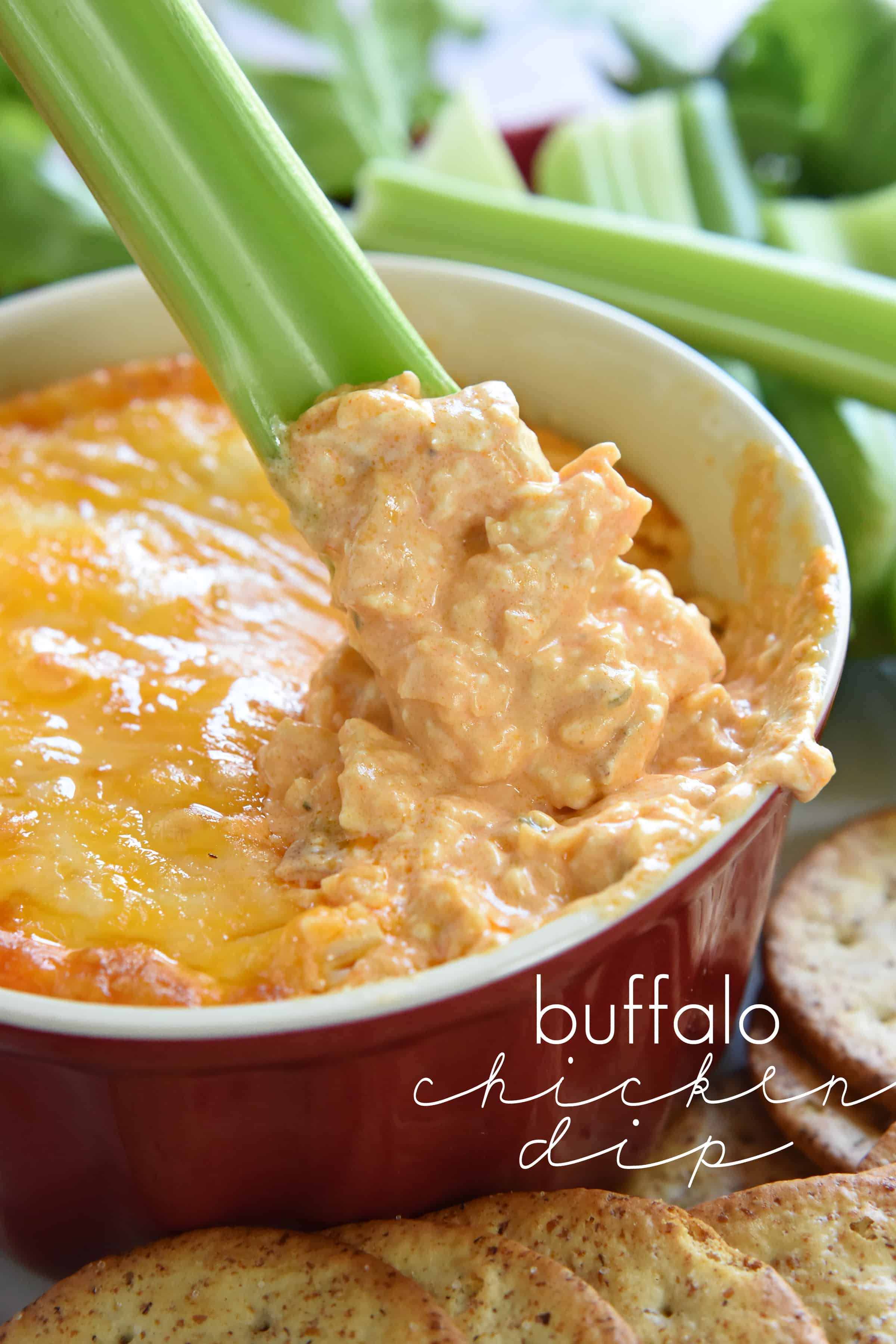 and loaded with cheese, chicken, and wing sauce, Buffalo Chicken Dip ...
