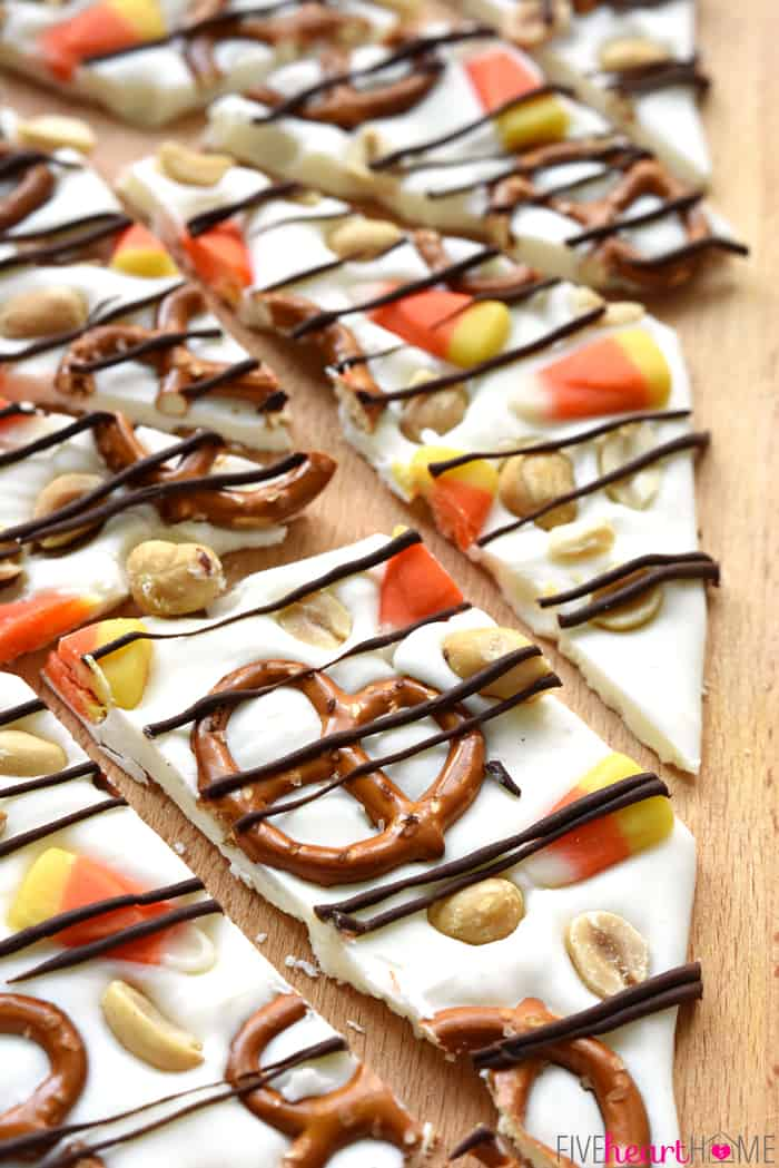 Candy Corn Halloween Bark Recipe