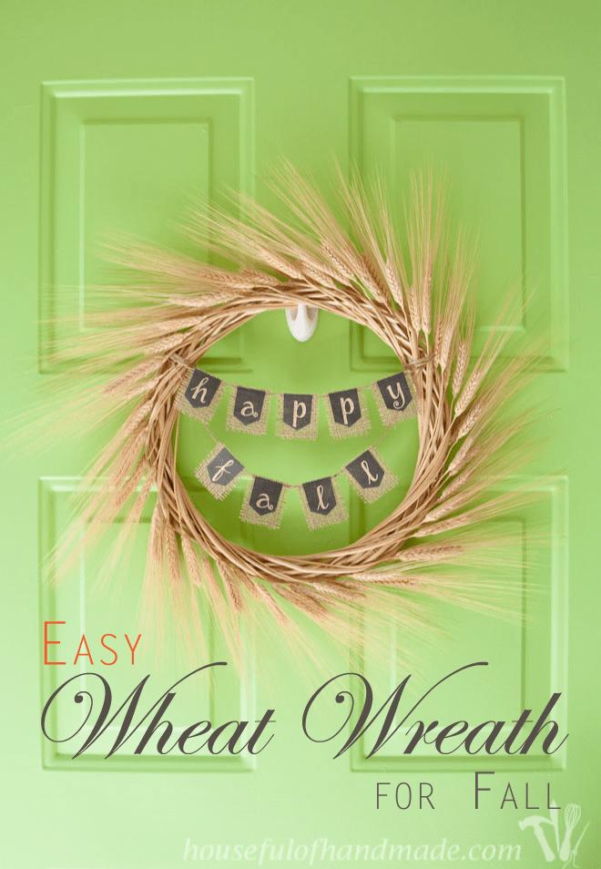 Easy Wheat Wreath