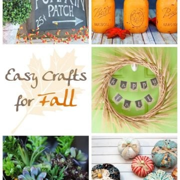 Easy Crafts for Fall | Moonlight & Mason Jars Link Party